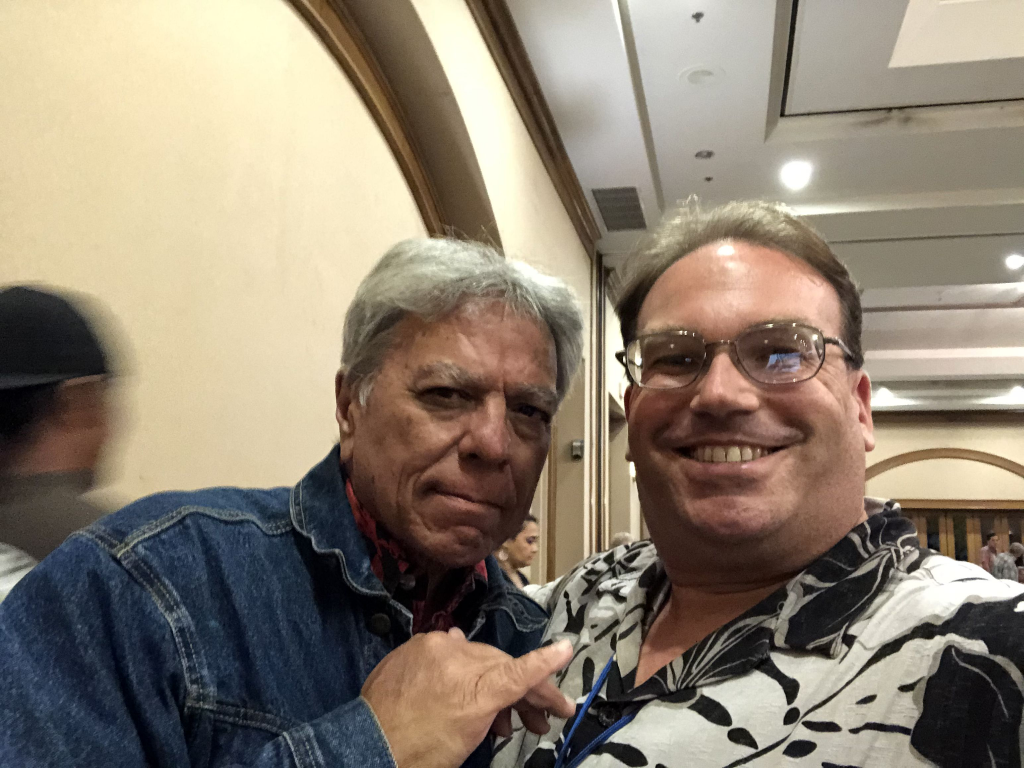 The author with legendary Hawaii comedian Andy Bumatai